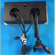 Personlized Products for China Office Accessories Supplier,  Office Accessories Manufacturer, Wire Management Producer Multimedia Tabletop Cable Connection Desk Mounted Push Type Pop Up Socket export to Congo, The Democratic Republic Of The Supplier