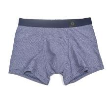 La alta calidad del algodón de los hombres de negocio clasificó para requisitos particulares el boxeador de la orden resume la ropa interior panty breathable de la esquina cuatro