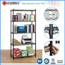 Black 5 Tiers réglable en métal Wire Office Rack