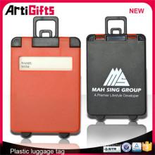 Étiquette de bagage en plastique simple fait sur commande de vente directe d'usine