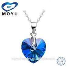 2015 fashion jewelry gemstone pendant jewelry set with low price high quality silver jewelry wholesale
