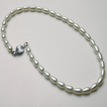 Pearl Necklace White Teardrop Beads