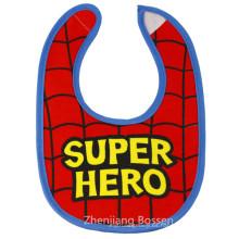 Babero personalizado de dos capas de jersey de algodón estampado para niños con broches de presión Baberos absorbentes impermeables