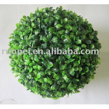 Boule de gazon artificiel / boule artificielle décorative en plastique d'herbe de buis