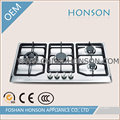 2016 Hot Sell 4 brûleur intégré en acier inoxydable gaz plaque de cuisson