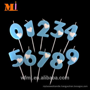 In Time Shipping Cake Decoration Light Blue Jumbo Number Cake Candle