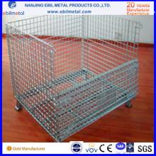 Faltbare Stahldrahtgeflecht-Behälter für Lager