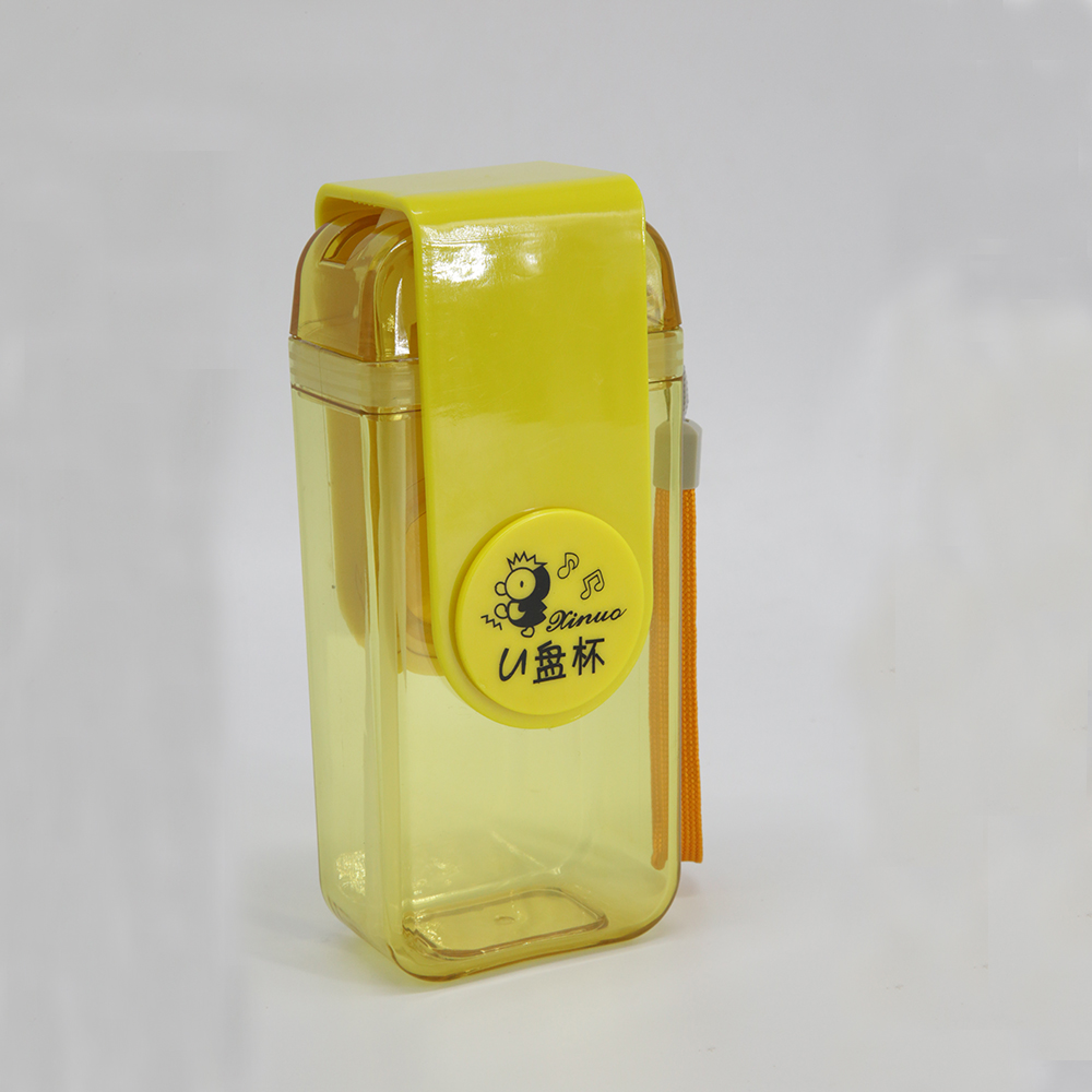Forma de disco USB Sport Water straw Bottle