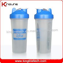 600ml Plastik-Protein-Shaker-Flasche mit Blender-Mixer Ball Inside (KL-7017)