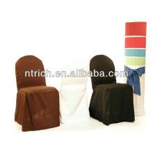 Filé de la couverture de chaise de polyester, couverture de chaise tissu épais pour banquet