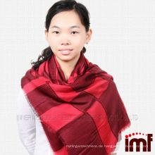 Best-Selling Modal und Wolle Blend Plaid Schal Schal für Frauen
