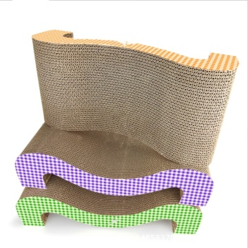 M shaped cat scratcher toy