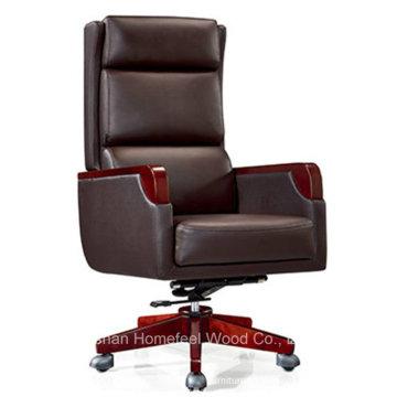 Chaise pivotante en cuir pivot de bureau de haut niveau chinoise (HF-A2287)