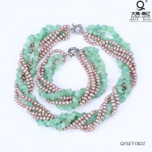 Perlen Halskette und Armband Perlen Schmuckset