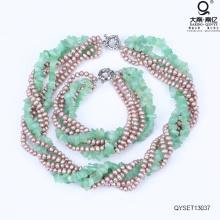 Комплект жемчуга и ожерелье из жемчуга и браслет из жемчуга