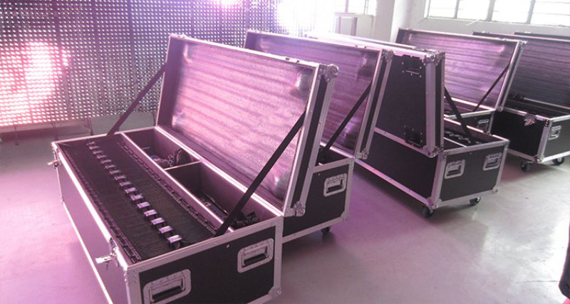 The package of led flexible mesh curtain video screen