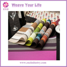 ZNZ SGS Factory PVC Washable Plastic Table mat