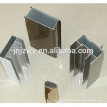 6063 Customized decorative surfaces 6062 extruded round aluminum profile