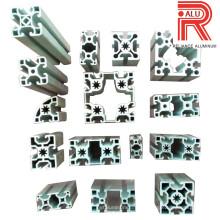 Perfis de extrusão de alumínio / alumínio para perfil padrão