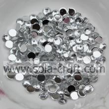 Wholesale 2/3/4/5/6 MM Acrylic Half Round Diamond Beads