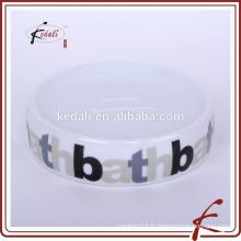 Plat de savon en céramique avec logo imprimé