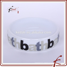 Stock Ceramic Soap Dish With Logo Printed