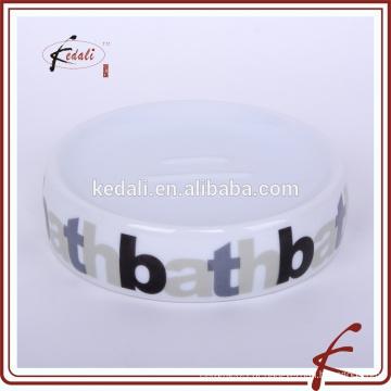 Stock cerâmica sabão prato com logotipo impresso