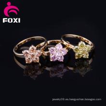 Anillos de oro cristalinos al por mayor de la manera barata