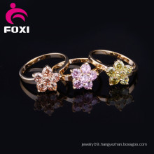 Wholesale Cheap Fashion Crystal Gold Rings