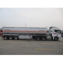 42CBM Tri-axle Carbon Steel Fuel Tank Semi-Trailer