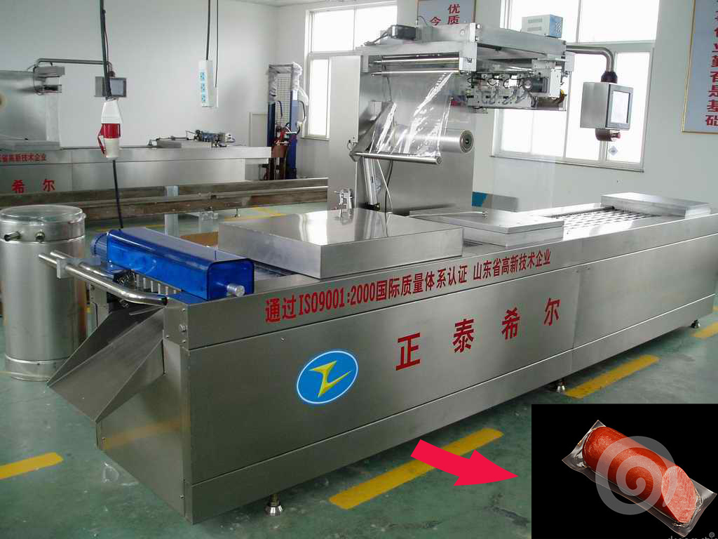 widely using sausage food plastic strech film vacuum packaging machine