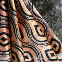 Rolo de tecido de veludo jacquard pesado 100% poliéster