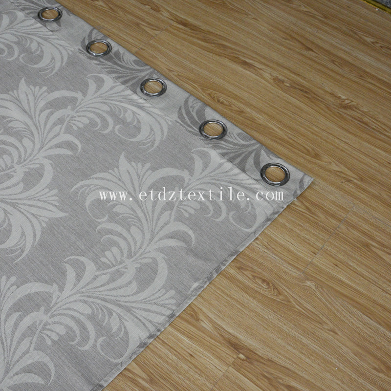 ZYL029 Grey Linen Touching 100% Polyester Slub Piece Dyed Window Curtain Fabric