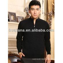 Luxury men's jacquard cashmere knitting sweater