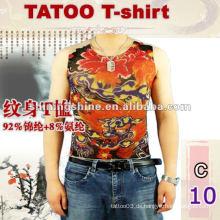 Großhandelsqualitätskurzschlußhülsen-Tätowierungst-shirt (haben auf Lager, können Mischarten, kann paypal)