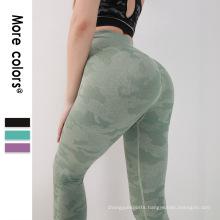 2021 High waisted workout gym leggings camo seamless leggings design for women sports