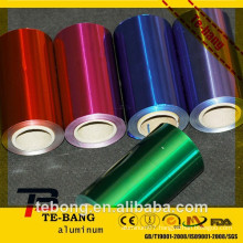 canton fair coloured aluminium foil Hairdressing aluminum foil/coloured hair foil for foil market/8011 O hair salon foil