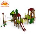 Playground de plástico equipamentos de teatro brinquedo ao ar livre