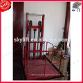 guide rail cargo lift elevator