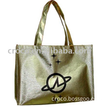 Gold Laminated Nonwoven Shopping Bag