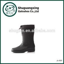 Caliente botas de lluvia A-909 de venta goma moda botas de lluvia Botas hombres PVC lluvia Botas Hombre