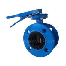 Golden Supplier whole sale ductile iron double eccentric butterfly valve