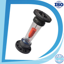 Le mètre en plastique vertical de débit d'eau de brides de tube de gravitys de tube