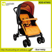 2015 fabricante de carrinho de bebê China com carrinho footrest ajustável Rodas giratórias de 360 graus direção assento reversível