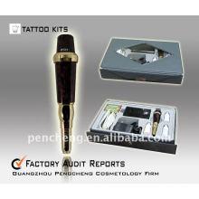Kit de caneta de tatuagem de maquiagem permanente - dispositivo profissional de baixo ruído