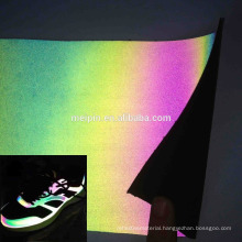 Reflective Iridescent Synthetic Leather for Shoes