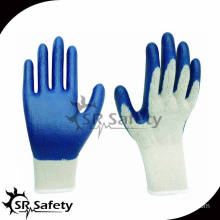 SRSAFETY 10G polycotton liner coated latex gloves cotton