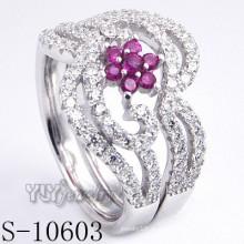 925 Sterling Silber Rosa Zirkonia Frauen Ring (S-10603)