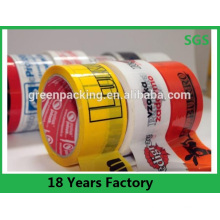 Marke Logo Werbung gedruckt BOPP Custom Packaging Tape benutzerdefinierte Band