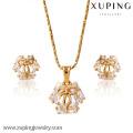 62654-Xuping 18k позолоченный изысканные элегантный ювелирные изделия Кристалл комплект ювелирных изделий